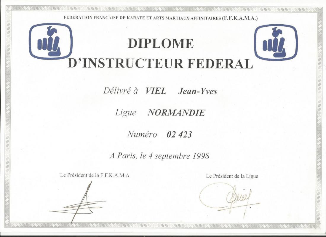 Diplome d instructeur federale